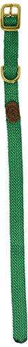 "Mendota Double-Braid Junior Collar, Kelly Green, 9/16"" Up to 14"""