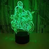 Harley Moto Moto Locomotora pesada Racing Speed Sport Auto 3d Lámpara de mesa Led Luz de noche Decoración navideña Regalo para niños