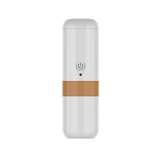 ICVDSRG 240Ml herbruikbare capsule, draagbaar elektrisch koffiezetapparaat, accu auto, wit oranje