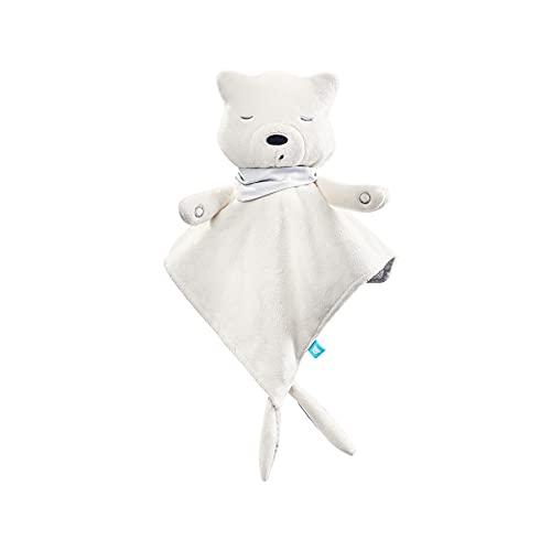 myhummy Einschlafhilfe Baby Doudou Basic ecru weiß | White Noise Baby Einschlafhilfe Kinder zur Baby Beruhigung | my hummy Einschlafhilfe Babys mit sanftem Ausklingen nach 1 Stunde