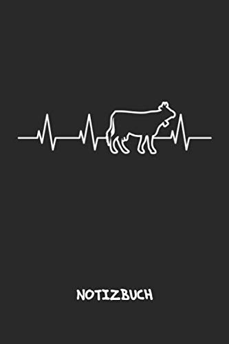 NOTIZBUCH: Bauer Notizblock A5 LINIERT - Ackerbau Notizheft 120 Seiten Tagebuch - Milchkuh Kuh Ich liebe Kühe Geschenk für Landwirt Bauer Farmer