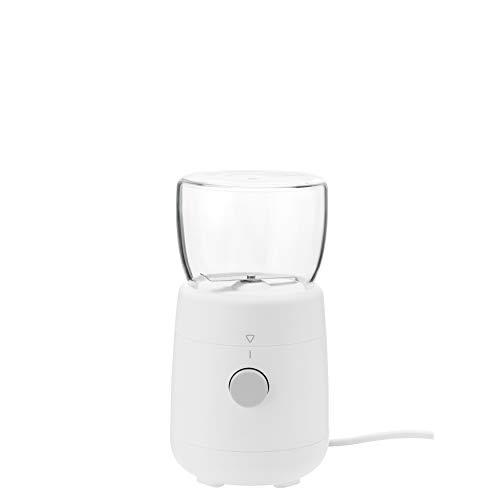 RIG-TIG Kaffeemühle FOODIE - Automatischer, elektrischer Mixer, Zerkleinerer für Kaffeebohnen, Gewürze - Ein-Knopf-Bedienung - Glas, Borosilikat, Kunststoff, Edelstahl - Tragbar & Kompakt - Weiß