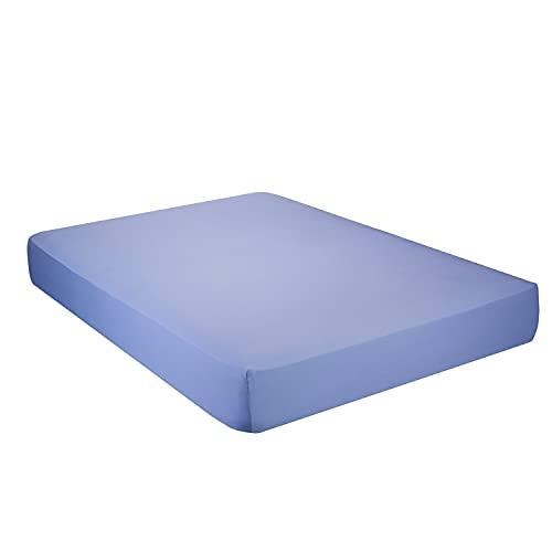 Pikolin Home - Juego de cama 100 % algodón 150 hilos de buena calidad transpirable para cama de 90, azul