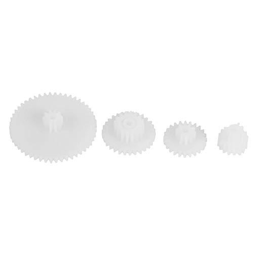 19pcs Engrenages en Plastique Kits de Moteur Engrenages Pièces pour Robot Toy Automobile Voitures DIY Tailles Variées