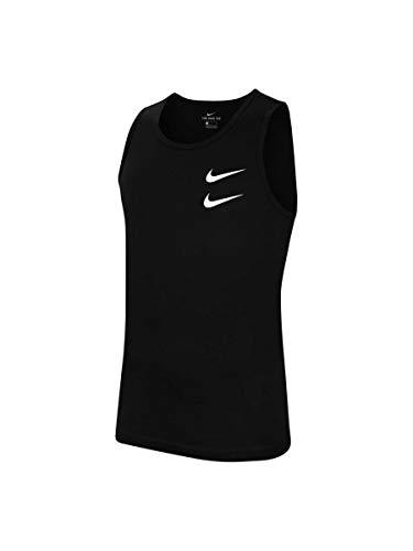NIKE CQ5293-010 Camiseta Deportiva sin Mangas para Hombre, Negro/Blanco, Talla: XS