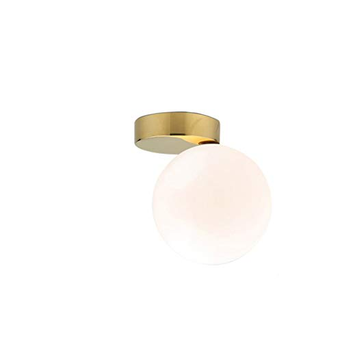 JYDQM Moderna bola de cristal lámparas de techo dormitorio iluminación decoración del hogar luces oro pasillo escaleras sala interior luminaria