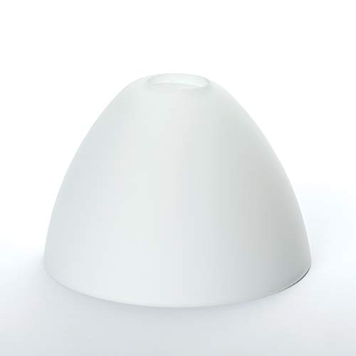 Glas Lampenschirm Ersatzglas Kegel G9 Lochmaß Fassung ø 23 mm (weiß matt)