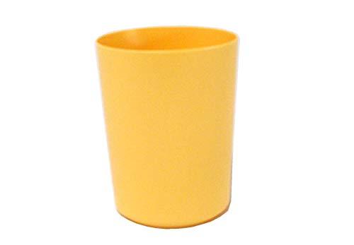 Sonja-Plastic Becher 0,2 l dünnwandig, Pastell-gelb, Made in Germany