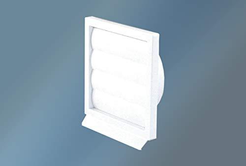 VIOKS Abluft Haube Lufthaube Lüftung Aussenhaube Aussengitter Anschluss: 125mm mit: beweglichen Luftklappen für Dunstabzugshaube Klimagerät oder Trockner
