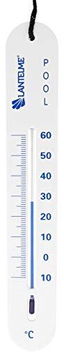 Lantelme Poolthermometer weiß Schwimmbad Pool Teich Thermometer sinkend Analog Schnur Wassertemperatur Tiefe 4824