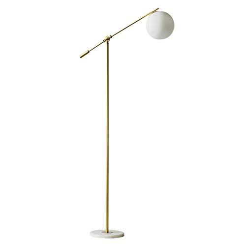 Lampes de chevet Lampadaire Salon Chambre Creative Lampadaire Vertical en Verre Simple Moderne Romantique Métal Marbre Lampadaire (Color : Gold, Size : 25 * 140cm)