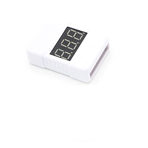 Lixiaonmkop Neues Modell / BX100 / BB Niederspannungs-Alarm/Batterie-Monitor/Modellflugzeug Lithium-Batterie-Tester / 1S-8S (Color : White)