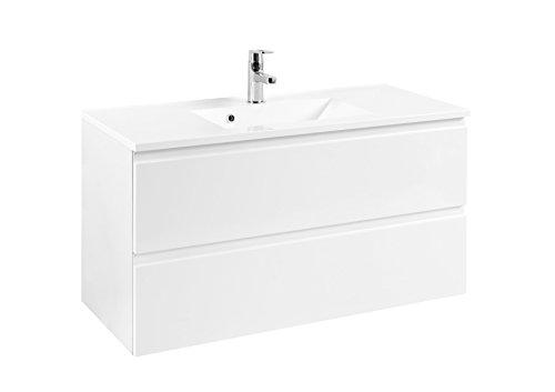 Held Möbel Cardiff Waschtisch 100, Holzwerkstoff, Weiß, 47 x 100 x 56 cm