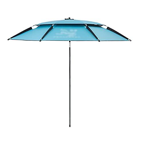 DFYR Sombrilla de Playa Plegable para el Sol, Protección Portátil UV 50+, Sombrilla para Exteriores con Bolsa De Transporte, para Jardín, Playa al Aire Libre