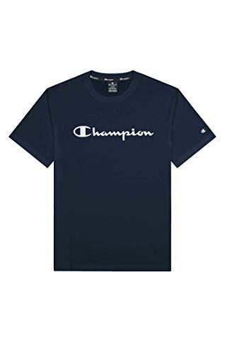 Champion Legacy Classic Logo Camiseta, Azul Marino, L para Hombre