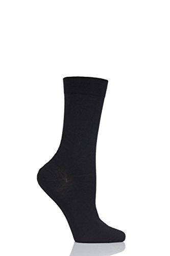 Pantherella Damen Socken, Schwarz