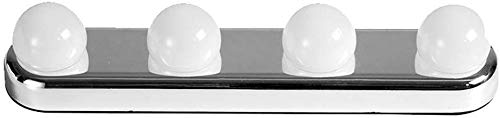 4 Lamp Hollywood Led Make-up Spiegel Licht Zuignap Installatie Dressing Tafel Vanity Licht Badkamer Wandlamp Batterij Aangedreven