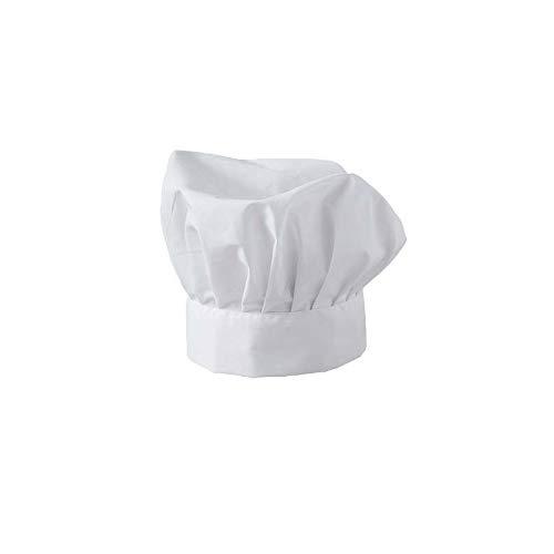 Fimel Cappello Cuoco Bianco Unisex Misura Unica Regolabile con Velcro.Il Classico e intramontabile Cappello da Cuoco.Unisex, Mis