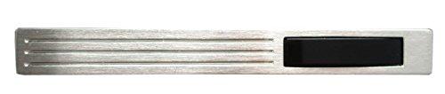 925er Silber Onyx Krawattennadel Krawattenschieber matt + schwarzer Krokobox m.i. Germany