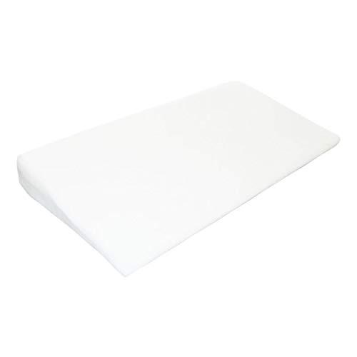 Monsieur Bébé ® Plan incliné 15° déhoussable avec mousse à mémoire de forme anti-bactérien - 40, 60 ou 70 cm de large - Norme CE