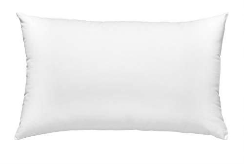 sleepling 197137 Basic 50 Cojín de Plumas con Funda 100% algodón 40 x 60 cm, Blanco