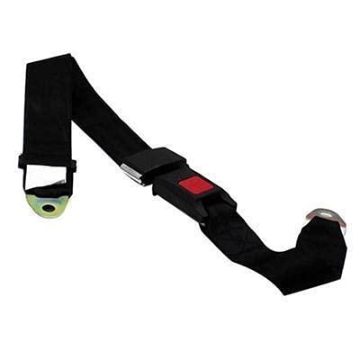 LPL Cinturón de Seguridad de vehículo de Coche Universal Extensión de extensión Correa de Seguridad Dos Puntos Cinturón Ajustable Negro