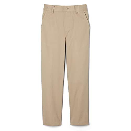 French Toast Boys' Big Pull-On Relaxed Fit School Uniform Pant (Standard & Husky), Khaki, 8