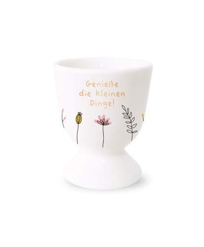 Grafik-Werkstatt 61481 Eierbecher mit Echtgold | Porzellan Becher | Genieße