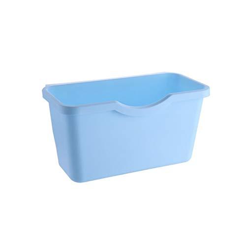 Cubo de basura para colgar en puertas de armario de cocina, almacenamiento de residuos de vegetales y alimentos y residuos de alimentos. Educación musical, concierto, curación mental (color: azul)