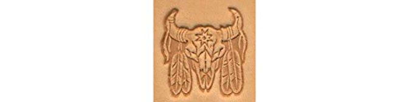 Tandy Leather Indian Skull Craftool? 3-D Stamp 88436-00