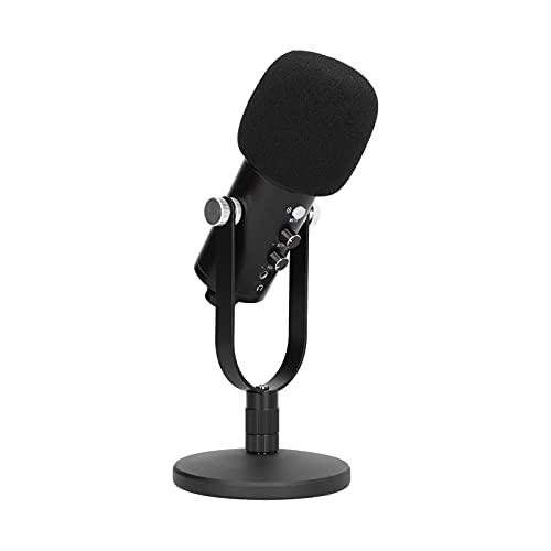 Lazmin112 USB-Computermikrofon, Breite Anwendung Einstellbar Platzsparend Feiner Klang Empfindliche Stabile Mikrofone für Online-Karaoke-Chat-Aufnahmestudio E-Sport-Spiele(Standard)