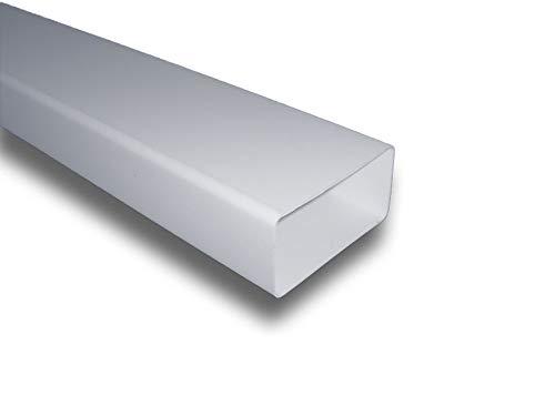 Flachkanal Lüftungskanal Kunststoffkanal Abluft Zuluft Lüftung System 100 (55x110), Länge 1 m