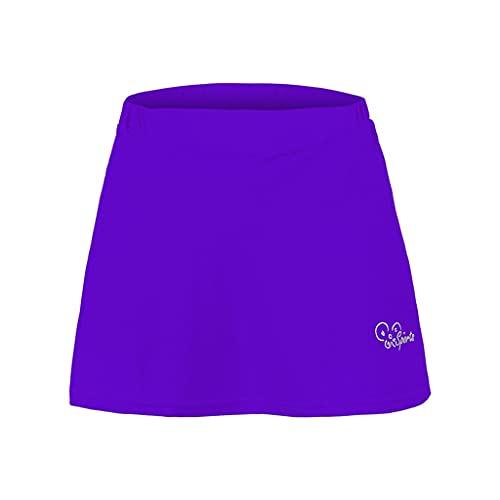 ZAYZ Falda Pantalón de Ciclismo para Mujer Falda de Bicicleta con Esponja 3D Acolchada, Transpirable de Secado Rápido (Color : Purple, Size : XL)