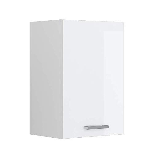 Vicco Küchenschrank Hängeschrank Unterschrank Küchenschränke Küchenunterschrank Arbeitsplatte, Möbel verfügbar in anthrazit und weiß (weiß ohne Arbeitsplatte, Hängeschrank 40 cm)