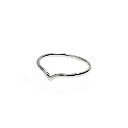 Timi of Sweden | Grande anello a spina di pesce, argento
