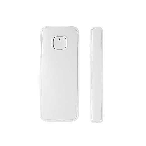OWSOO Sensor de Puerta WiFi Inalámbrico Soporte Control de Tuya App Compatible con Alexa Google Home IFTTT, 1PCS