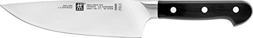 """ZWILLING J.A. Henckels 38401-182 38401-183 Chef's Knife, 7"""", Black/Stainless Steel"""
