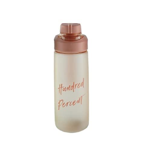PUYEI Vaso de agua de plástico, portátil, para estudiantes, deportes al aire...