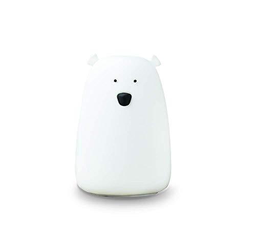 Little L OUBLANC - Lámpara nocturna de silicona, diseño de oso