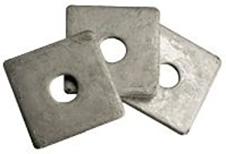 5//8 x 2 x 0.187 Square Plate Washer Low Carbon Steel Hot Dip Galvanized Pk 25