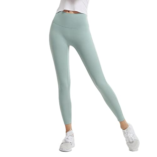 QTJY Nude Ladies Stretch Slim Soft Yoga Pants Pantalones Deportivos de Gimnasia para Mujeres Pantalones de Fitness de Levantamiento de glúteos de Cintura Alta M XL