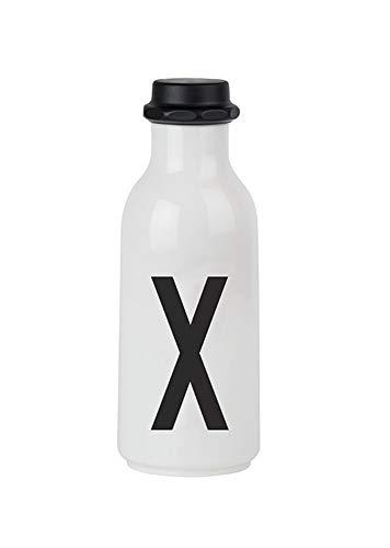 Design Letters Bouteille d'eau personnelle - X - Sans BPA et sans BPS, Design nordique, Disponible auprès de A-Z, Utilisez le biberon lors de vos déplacements, Étanches, 500 ml, 90 g.