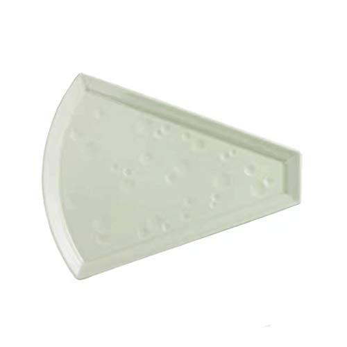 Aiglen Plato de porcelana de cerámica para pizza, restaurante nórdico, postre, tarta de queso para hornear, bocadillos, plato de fruta irregular (color verde)