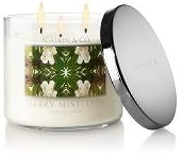 Bath and Body Works Merry Mistletoe 3 Wick Candle Slatkin 14.5 Oz