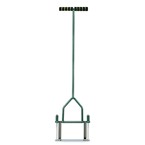 "Opmeiro Lawn Coring Aerator, Yard Aerator Tool with Semi-Open Slot, Spring Aerator Tool Hand Aerator Plug for Labor-Saving, 39"" x 10"", Green"