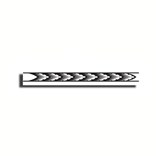 YLGG Etiquetas engomadas temporales del Tatuaje de la Moda del Brazalete de patrón de Trigo de Onda súper Larga, adecuadas para Hombres y Mujeres, Impermeables, extraíbles