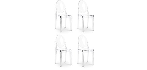 Sedie Victoria Ghost ispirate a Philippe Starck x4