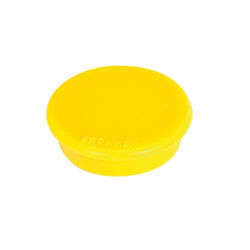 Franken HMS36 04 Magnet (Durchmesser 38 mm, Haftkraft 2500 g) 10 Stück, gelb