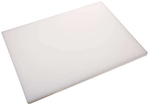 Winco CBH-1824 - Tabla de cortar (18 x 24 x 3/4 pulgadas), color blanco, mediano