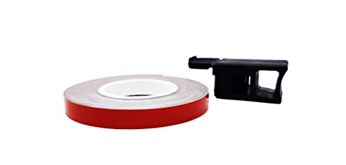 Quattroerre Bandes Wheel Stripes Réfractifs pour les Jantes des Motos, Rouge, 7 mm x 6 mt